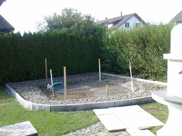 Erstellen eines Poolunterbaues